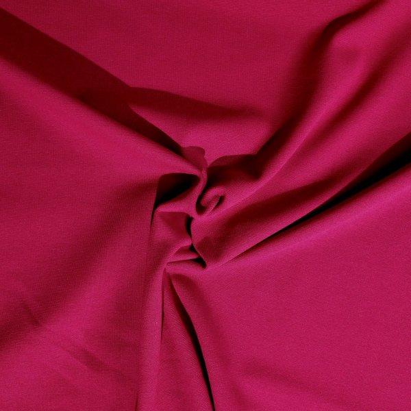 Látka metráž náplet bavlna elastan cyklamentový červený vínový bordo na tepláky rukávy
