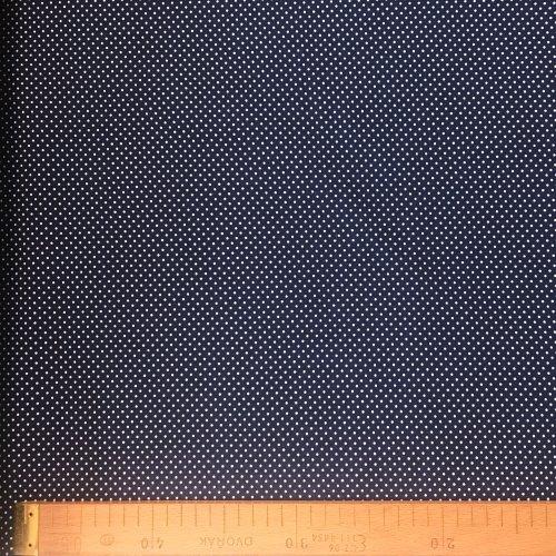 Bavlněná látka metráž, české plátno, 100% CO, 140g/m2, šířka 150 cm, 2mm puntíky, atest