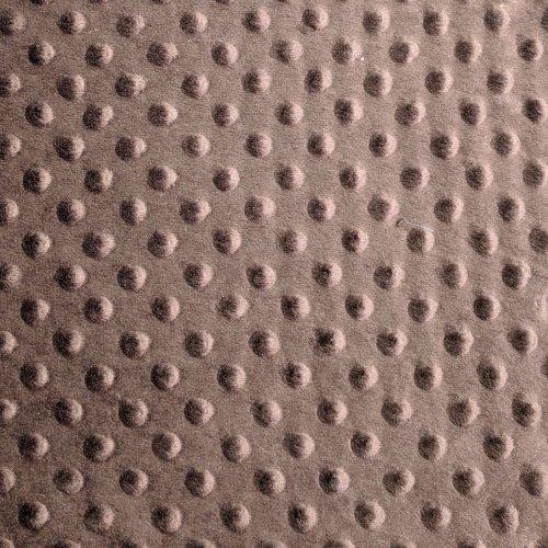 Látka minky metráž šerpa hnědá kaková čokoládová vaflová mimi dětská na zavinovačky hnízda