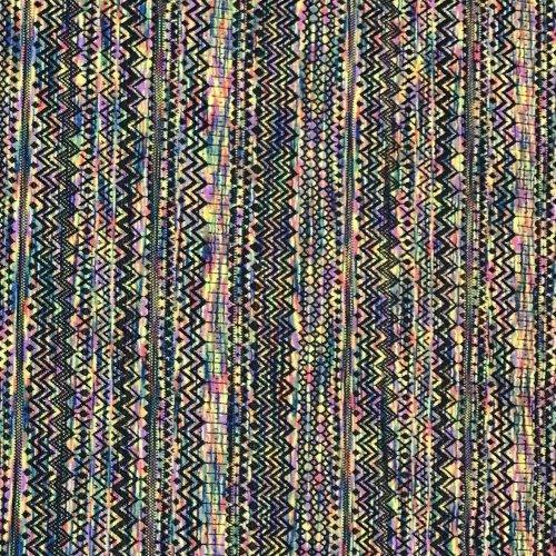 Pletenina metráž pružná látka duhová hologramová barva na sukně svetry kardigany
