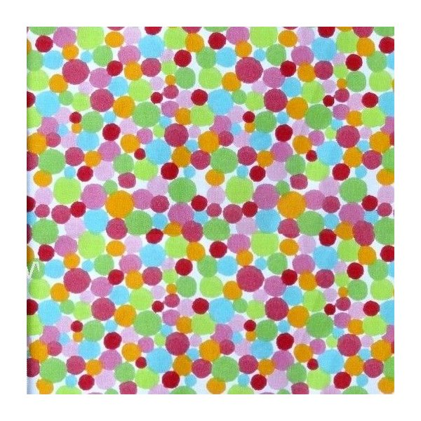 Bavlna metráž barevné puntíky bílá látka