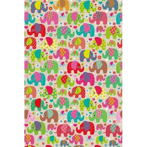 Pevná látka závěsy potahy barevní sloni
