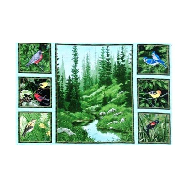 Látka plátno panel na patchwork,100% bavlna, velikost 70 x 110 cm