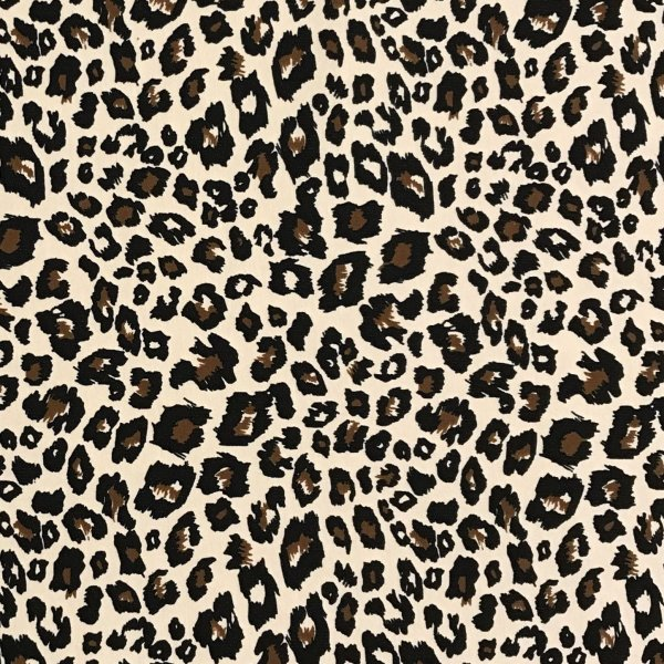 Látka tenká teplákovina světle hnědá leopardí gepardí jaguáří kůže tygrovaná