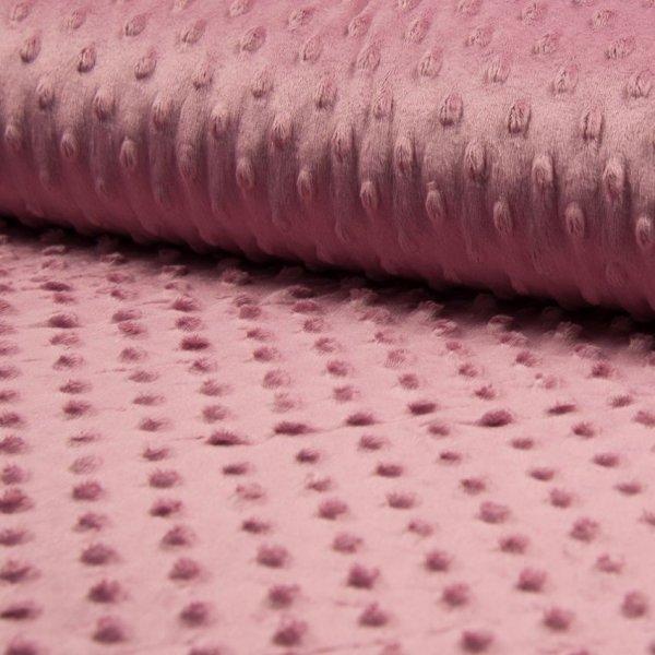 Minky látka, velmi jemná měkká tkanina, 100% polyester, 280g/m2, šířka 160 cm