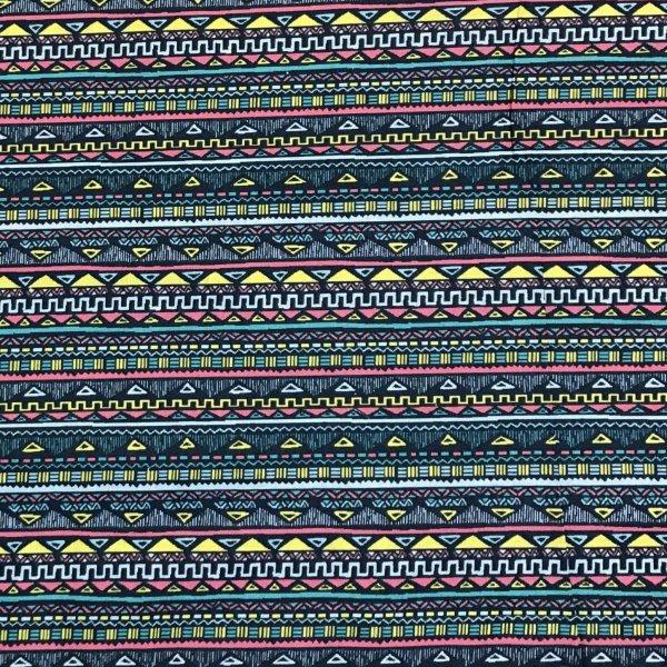 Bavlněná látka metráž modrá krajka navy blue na polštáře dekorace tyrkysová