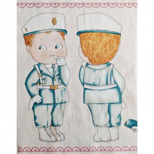 Látkový panel na ušití panenky,100% bavlna, velikostpostavičky cca 25 cm
