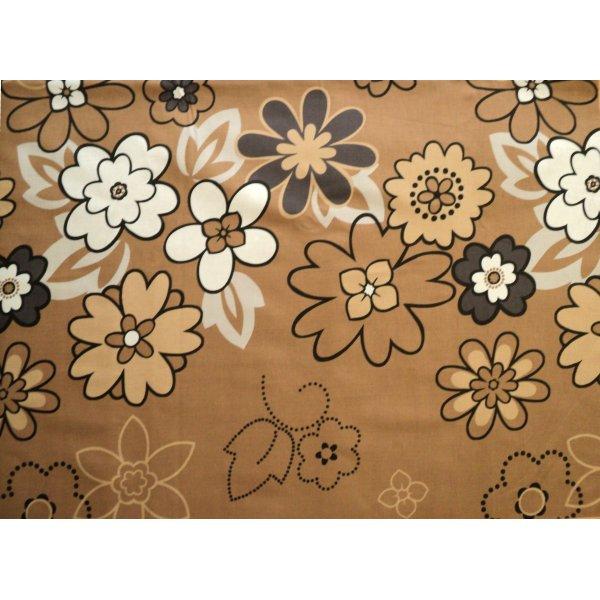 Látka na povlečení deky polštáře hnědý květinová