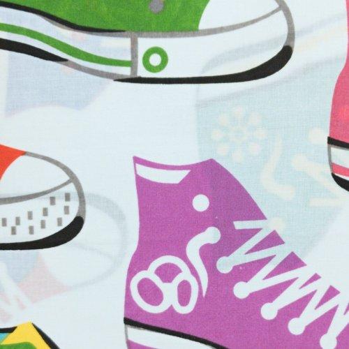 Bavlněná látka tenisky converse vlajky brazílie anglie turecko závěsy povlečení