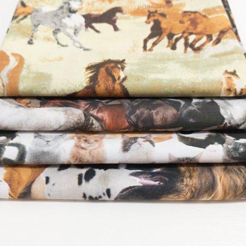 Bavlněná látka metráž, digitální tisk, 100% bavlna, šířka 150 cm