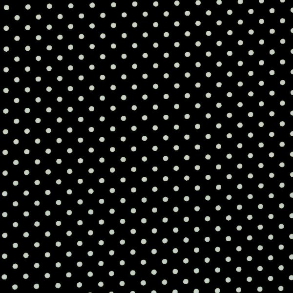 Bavlněná látka plátno černá malé bílé puntíky tečky podšívky na patchwork