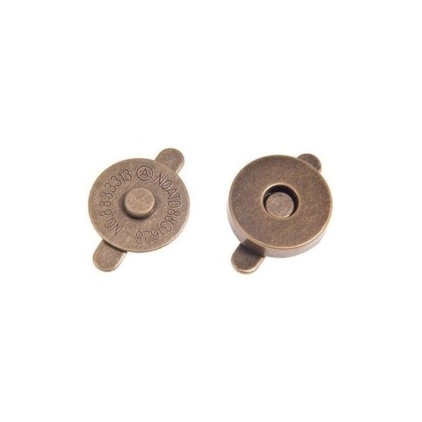 Magnetické zapínání vel. 15 mm,staromosaz