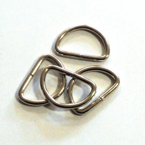 Polokroužekl kroužek stříbrný poniklovaný nikl kování