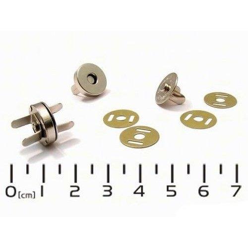 Magnetické zapínání stříbrné vel. 15mm, provedení poniklované