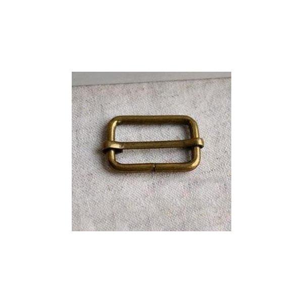 Průvlečná spona, staromosaz, vnitřní 30 mm x 19 mm, síla drátu 3,5 mm