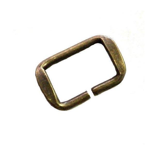 Rámek staromosaz, 30 mmx 19 mm, síla drátu 3,5 mm