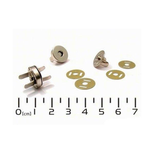 Magnetické zapínání vel. 18 mm, provedení poniklované