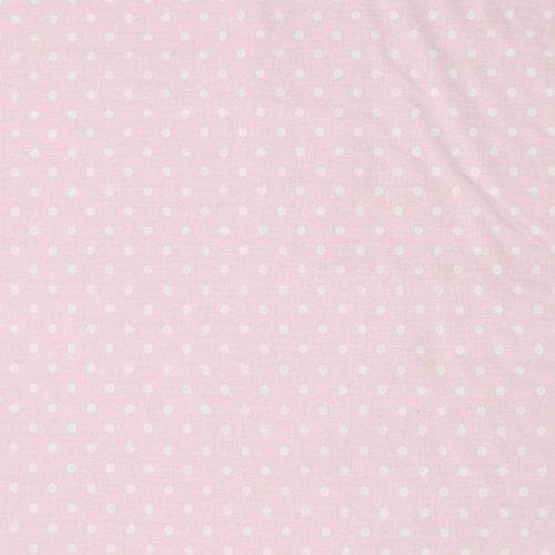 Látka metráž bavlna, Česko, 100% CO, 140g/m2, šířka 150 cm, puntík 4 mm