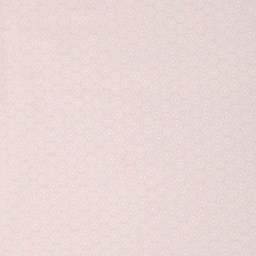 bavlněné plátno metráž pudrové světle růžové květy mandaly