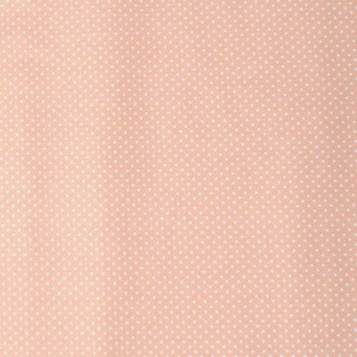 bavlněná puntíkovaná látka metráž růžová lososová světlá