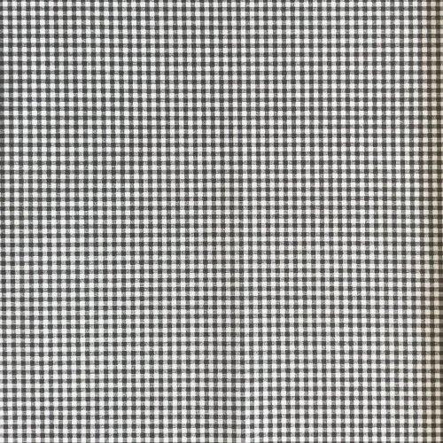 látka kanafas metráž 100 bavlna čtverečkový kostičkový vzor bílá šedá černá