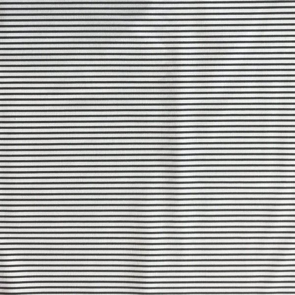 proužkovaná látka tmavě šedé bílé pruhy české bavlněné plátno na šité dekorace
