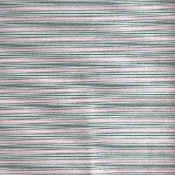proužkovaná látka metráž tmavě zeleno růžovo pruhy na bílé