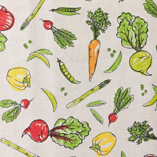 režná dekorační látka zelenina kořenová polévková mrkve řepa kedluben venkovský styl na závěsy