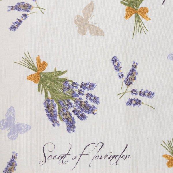 dekorační metrový textil na potahy povleky polštářů levadule motýli provensálsků styl dekorace