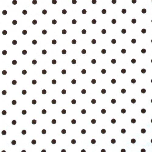 Bavlněná látka na patchwork a podšívky hnědý puntík