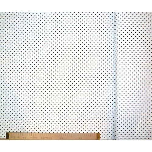 Látka metráž 100 bavlna na podšívky a patchwork bílá hnědý puntík