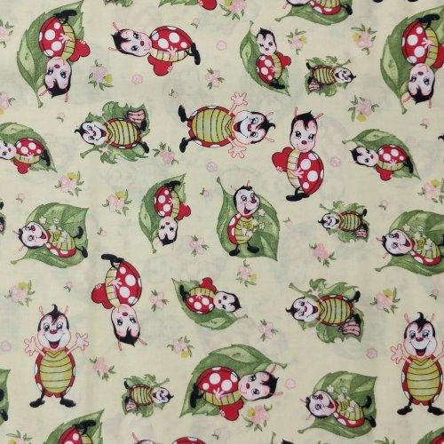 látka 100 bavlna žáby žabky rosničky na zelené s lekníny na dekorace závěsy