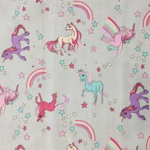 dětská holčičí látka jednorožci metráž duha my little pony poníci na závěsy do pokojíčků