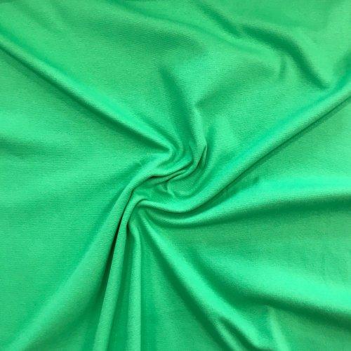 náplet metráž zelená jarní elastická látka na rukávy tepláky