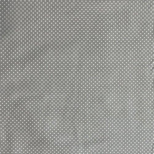 šedá puntíkovaná látka bavlna bílé tečky světlá na bytové dekorace patchwork