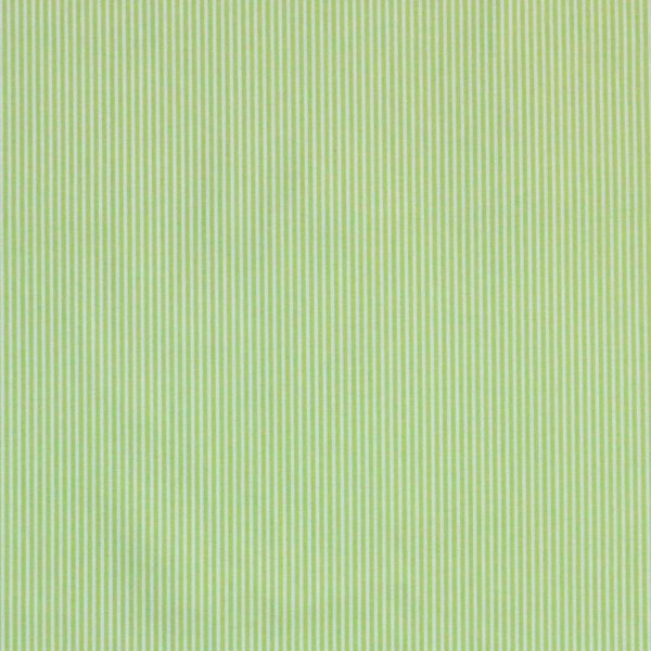Bavlněná plátno metráž světle zelená proužek bílá