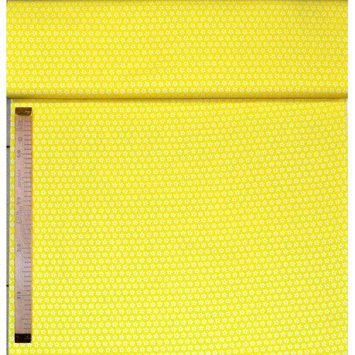 100 bavlna metráž na patchwork bílé kvítka sedmikrásky kopretiny na žluté květinované