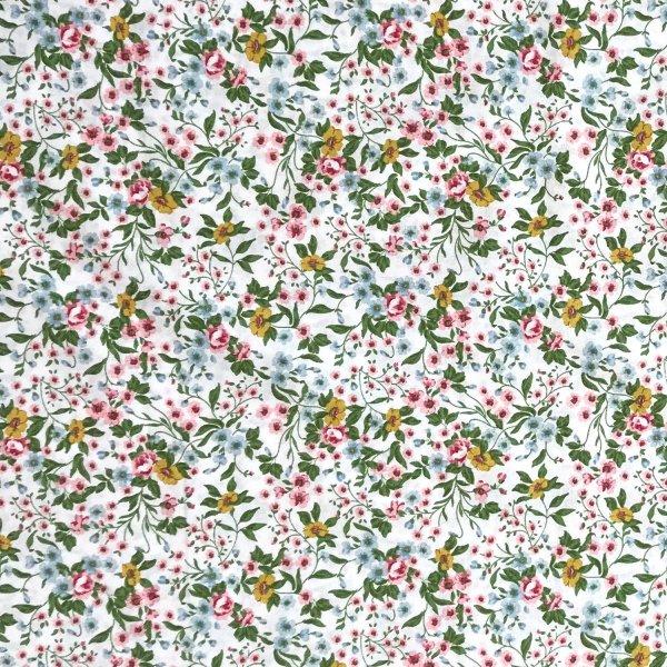 dovozová francouzská látka na závěsy dekorace designové kvalitní STOF France Fabrics Anna květiny