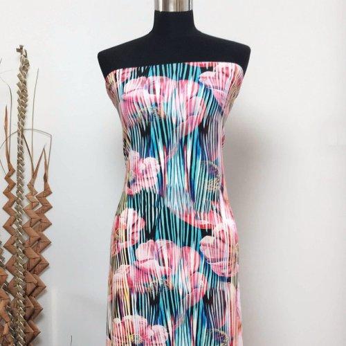šatovká úplet viskózový luxusní na letní šaty topy tuniky sukně