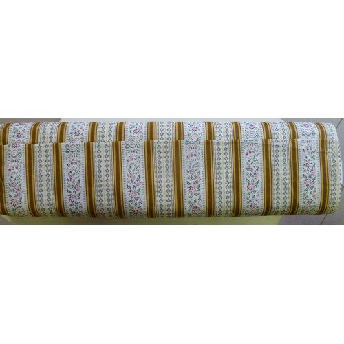 Látka 100 bavlna kytičky hnědá zlatá