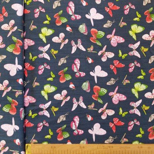 Látka šatovka na letní sukně, dovozová, 95% CO, 5% EA, 120g/m2, šířka 150 cm