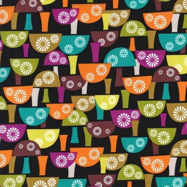 Americká látka 100 bavlna barevné houbičky