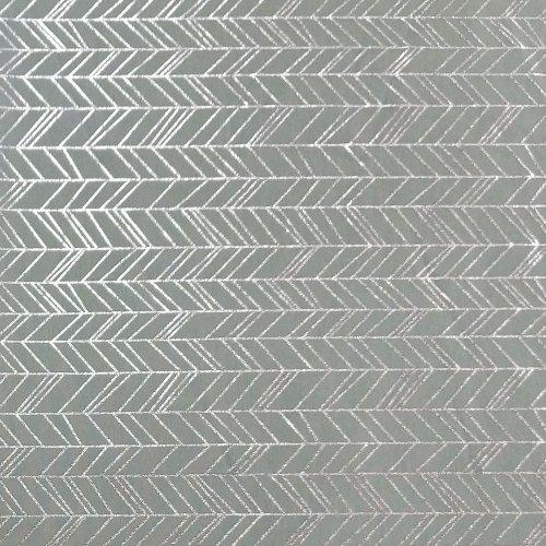 látka úplet na šaty a sukně stříbrný tisk vzor ševron šípy proužky na zelené tyrkysové mentolové
