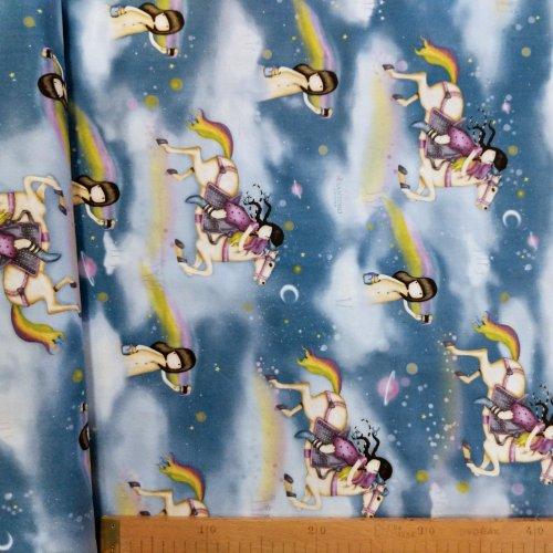 Americká bavlněná látka, kolekce Rainbow Dream, 100% bavlna, šířka 110 cm