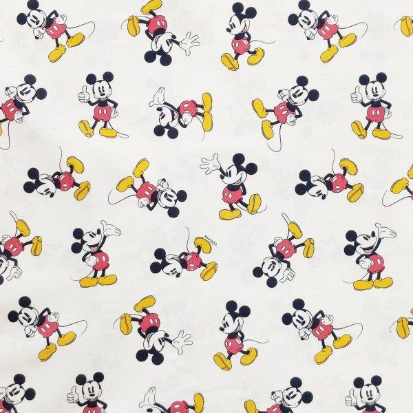 dětská 100 bavlněná látka na dekorace pro děti pohádkový disney vzor mickey mouse