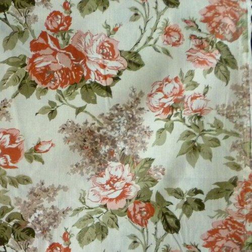 Látka růže 100 bavlna