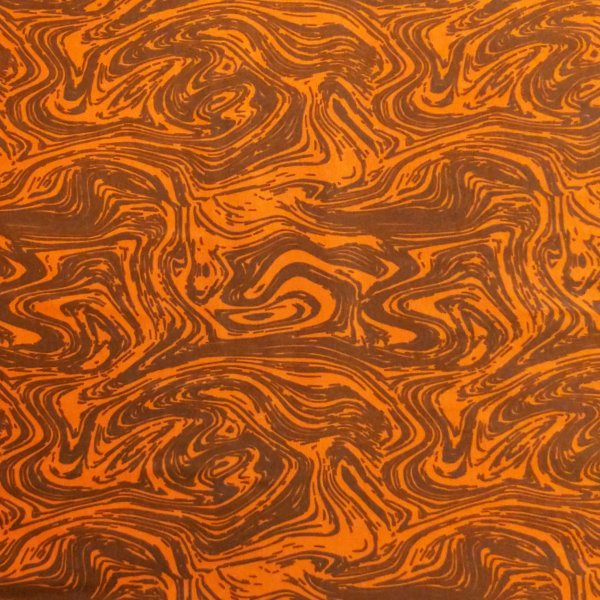 látka úplet jersey pružná na trika sukně cihlově červená oranžová earl vzor dřeva proudu vody