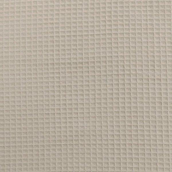 látka s vaflovým reliefém čtverečková vaflovina metráž písková okrová béžová moka kávová barva jednobarevná