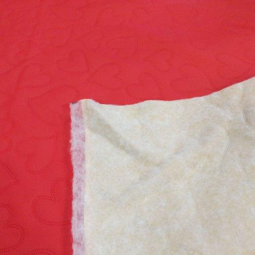 Eko kůže metráž s 3D efektem srdíček, vrchní část 100% PU, nosná část 80% PL, 20% CO, šířka 140...