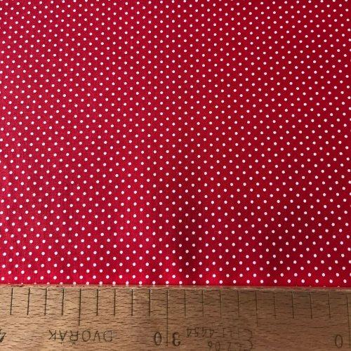 Metrážová bavlna, české látka, 100% CO, 140g/m2, 2mm puntík, šířka 140 cm